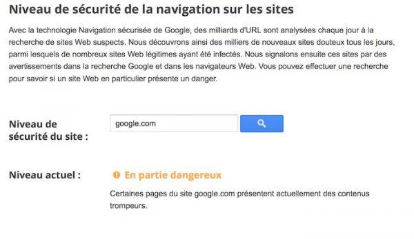 Google Site Dangereux