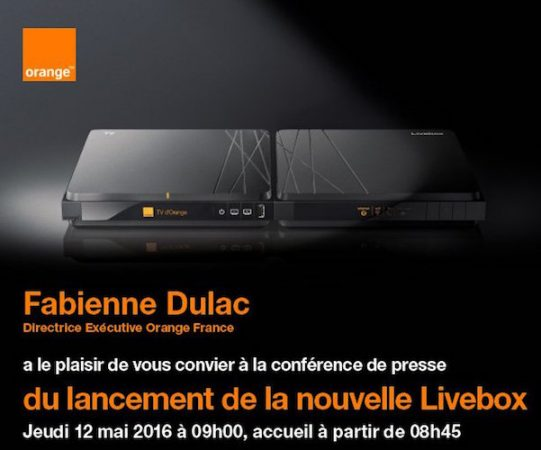 Orange Livebox Invitation 12 Mai 2016