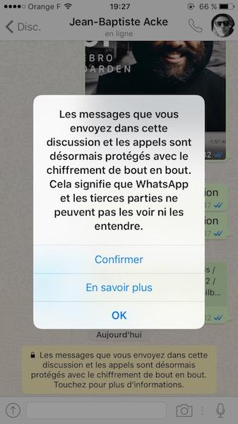 WhatsApp Chiffrement