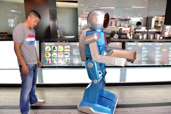 robot serveur chine