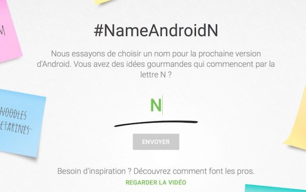 Android N Choix Nom