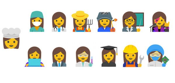 Emoji Femmes Travailleuses Google