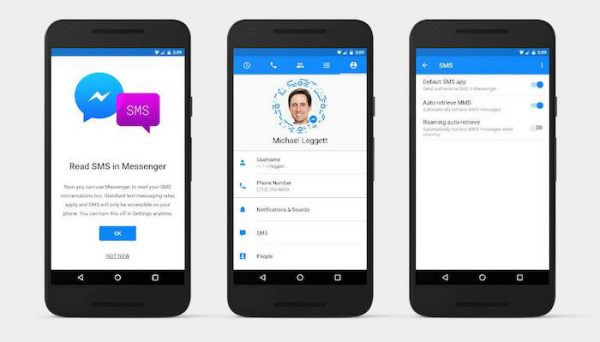 Facebook Messenger Support SMS Android