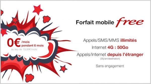 Free Mobile Forfait Gratuit 6 Mois Vente Privee