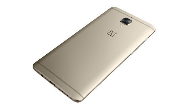 OnePlus 3 Arriere Or Officiel