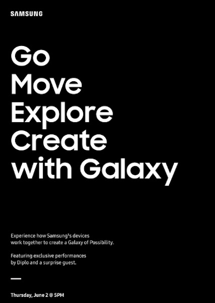 Samsung Invitation Conference 2 Juin 2016