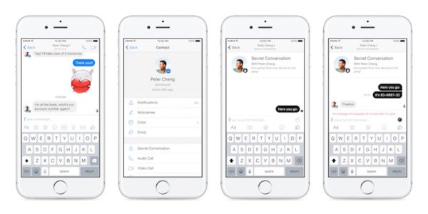 Facebook Messenger Chiffrement