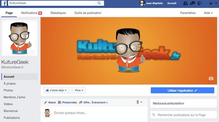 Facebook Nouveau Design Page Juillet 2016