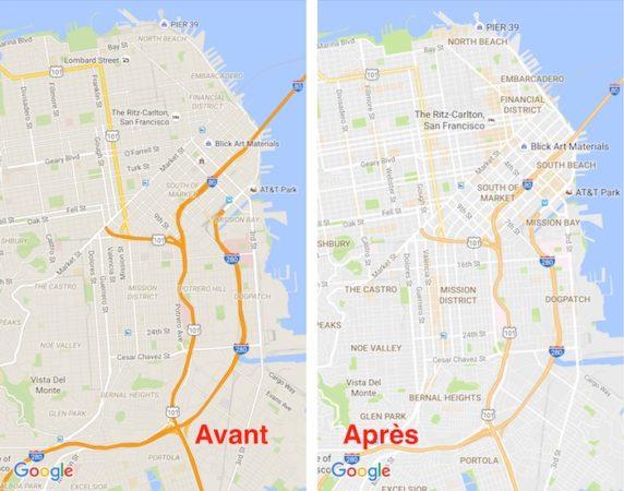 Google Maps Nouveau Design Juillet 2016