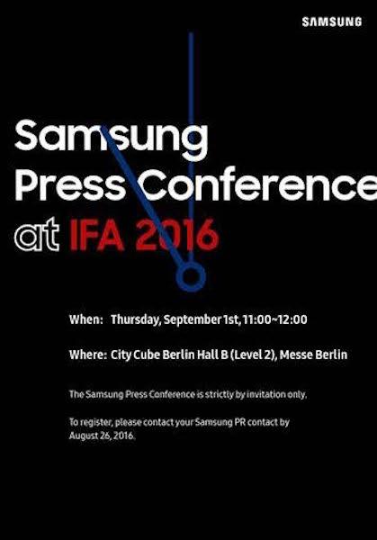 Conference Samsung 1er Septembre 2016