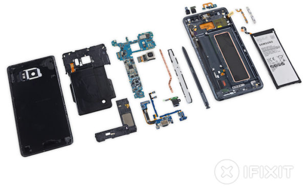 Demontage Galaxy Note 7 iFixit