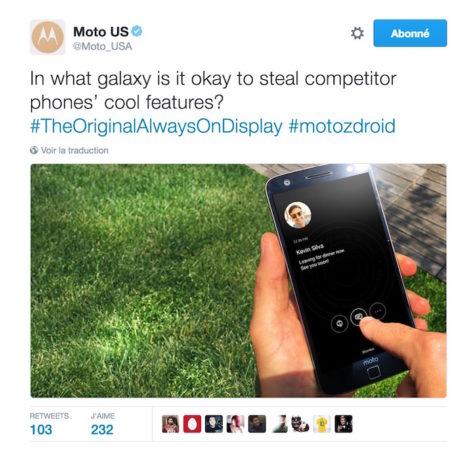Motorola Samsung Always On Display Copie