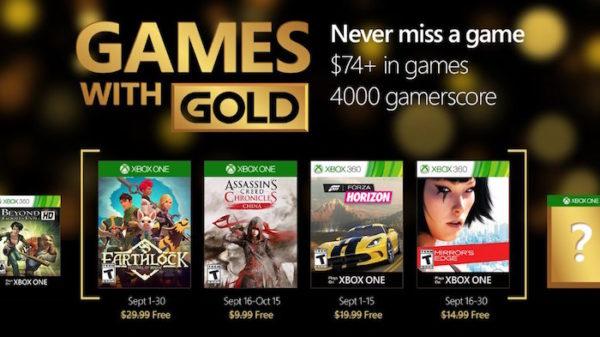 Xbox Live Gold Septembre 2016