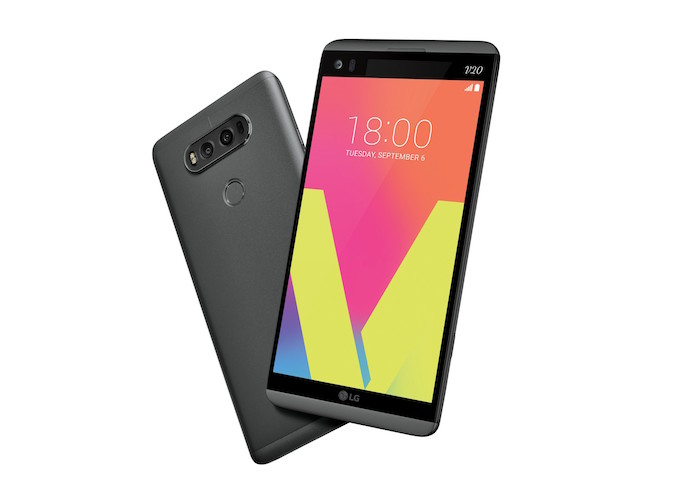 LG V20 Avant Arriere Gris
