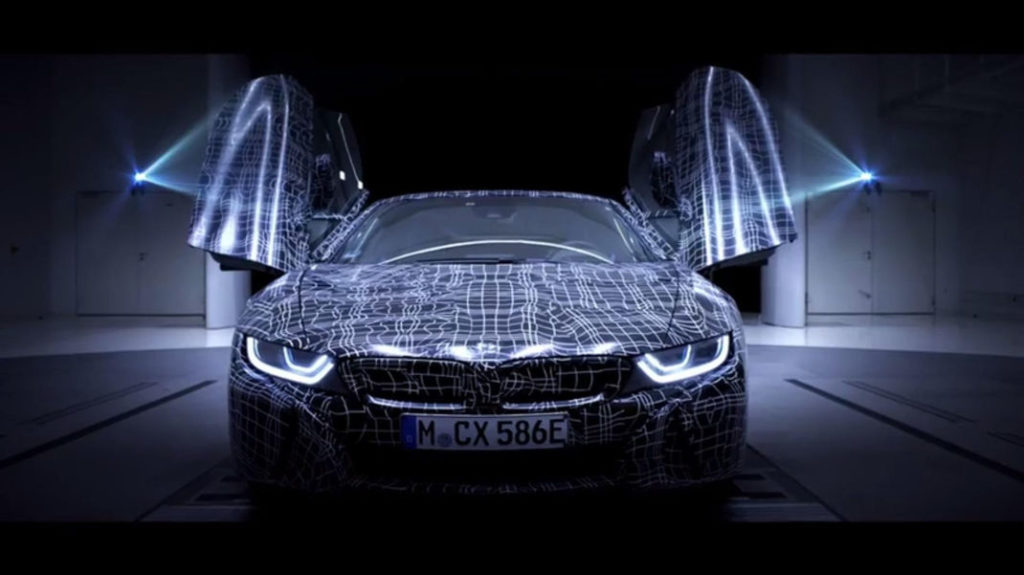 bmw tease le i8 son roadster lectrique surpuissant kulturegeek. Black Bedroom Furniture Sets. Home Design Ideas