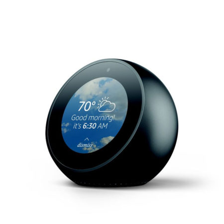 echo spot amazon d voile un r veil matin fonctionnant avec l 39 assistant vocal alexa kulturegeek. Black Bedroom Furniture Sets. Home Design Ideas