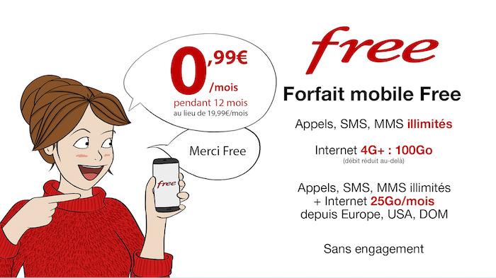 Promo Forfait Free Mobile Appelssmsmms Illimités 100 Go D