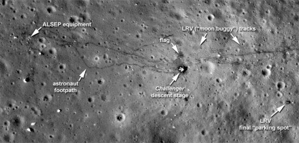 La lune aurait été réchauffée par l'activité humaine