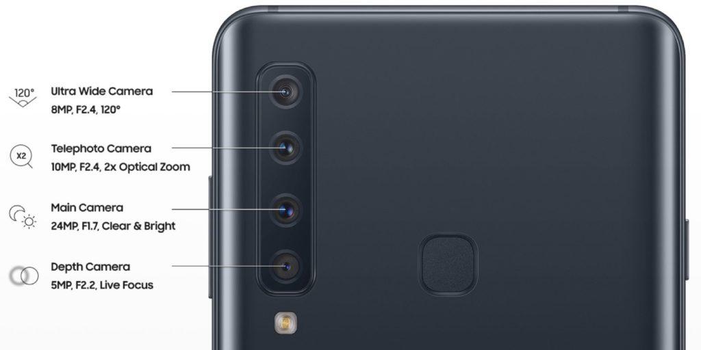 Samsung Galaxy A9 2018 Les Quatre Capteurs Photo Et Un Benchmark