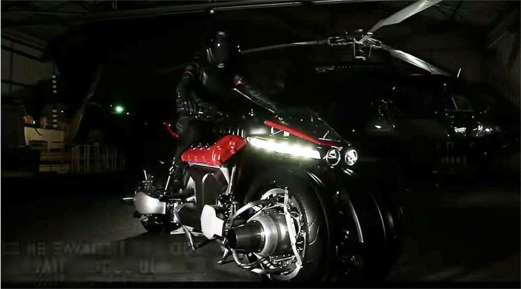 lazareth lmv 496   la moto volante con u00e7ue en france digne d u0026 39 un film de s f  vid u00e9o