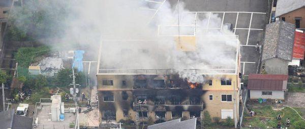 incendie criminel au studio kyoto animation   au moins 24