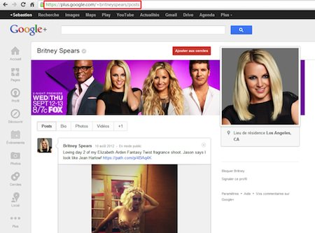 Google Url Perso Britney Spears