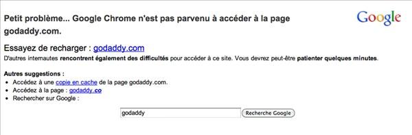 Go Daddy Google