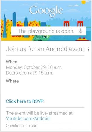 Invitation Special Event Google 29 Octobre