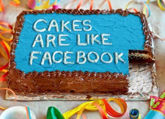 Gateau Facebook pas bon santé