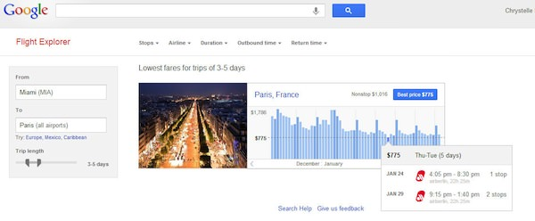 Google-Flight-Explorer
