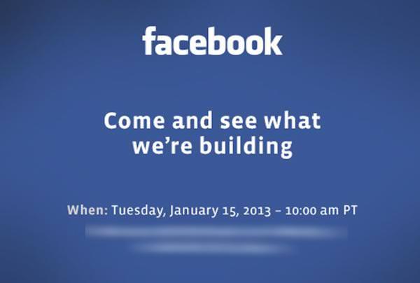 Facebook invitation 15 janvier
