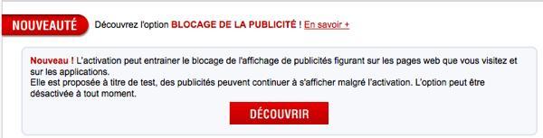 Free Mobile Bloque Publicite