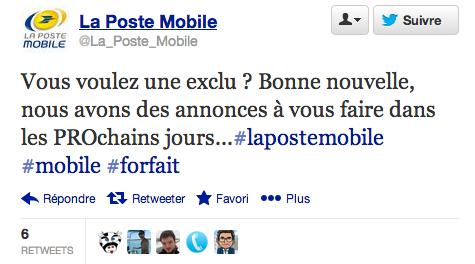 La Poste Mobile Professionnels Twitter