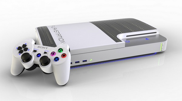 Sony PS4 Blanche Concept
