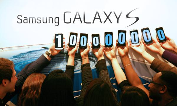 Samsung Galaxy S Serie 1 million vendus