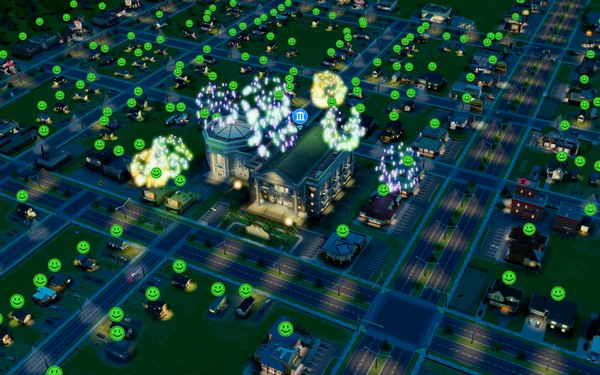 Simcity - Feu d'artifice