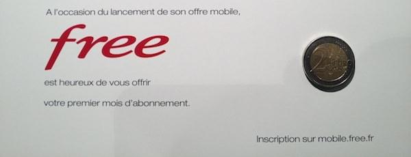 free mobile 2 euros