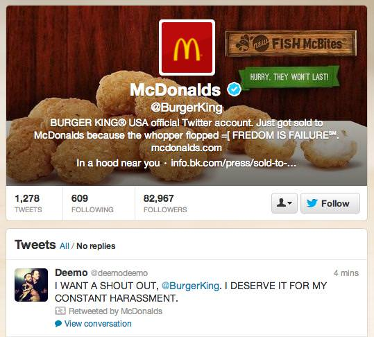 Burger King Twitter hack