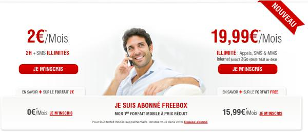 Free Mobile nouvel habillage