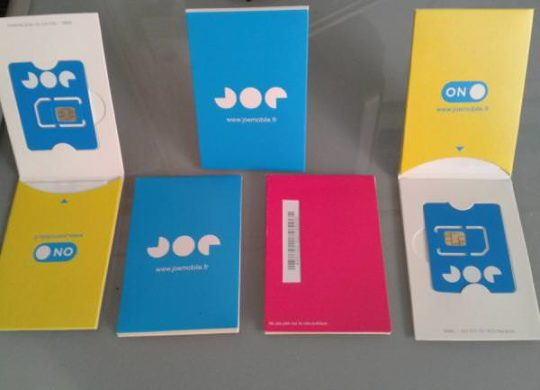 Joe Mobile Kit invitations SIM