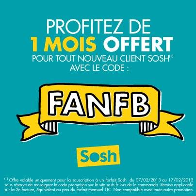 Promo Sosh un mois offert