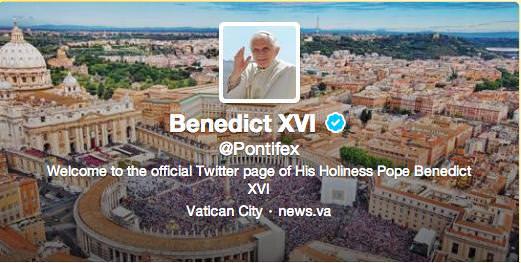 Twitter Pape Benoit XVI