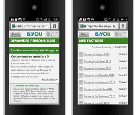 BandYou site mobile