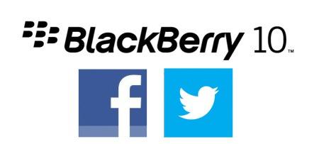 BlackBerry 10 Facebook Twitter