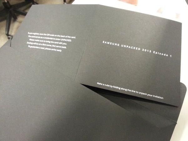 Carton invitation Galaxy S4
