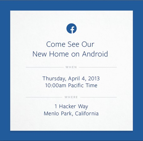Facebook Invitation 4 Avril 2013
