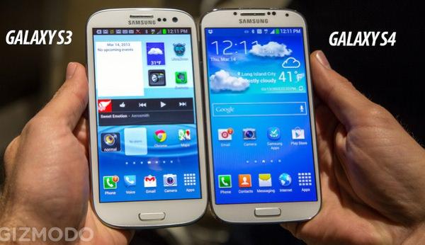Galaxy S3 vs Galaxy S4