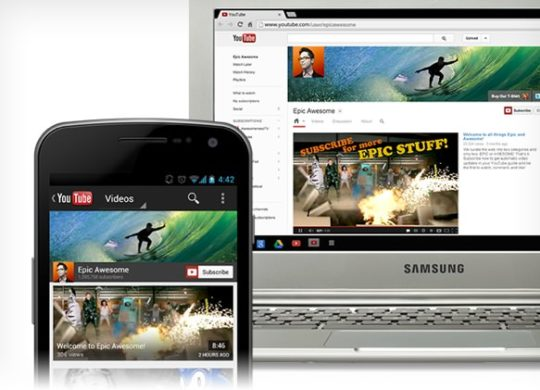 Nouvelle interface chaine YouTube