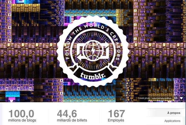 Tumblr 100 millions blogs