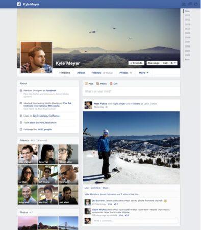 timeline facebook 2013